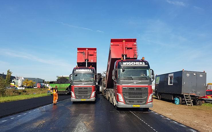 wegenbouw transport
