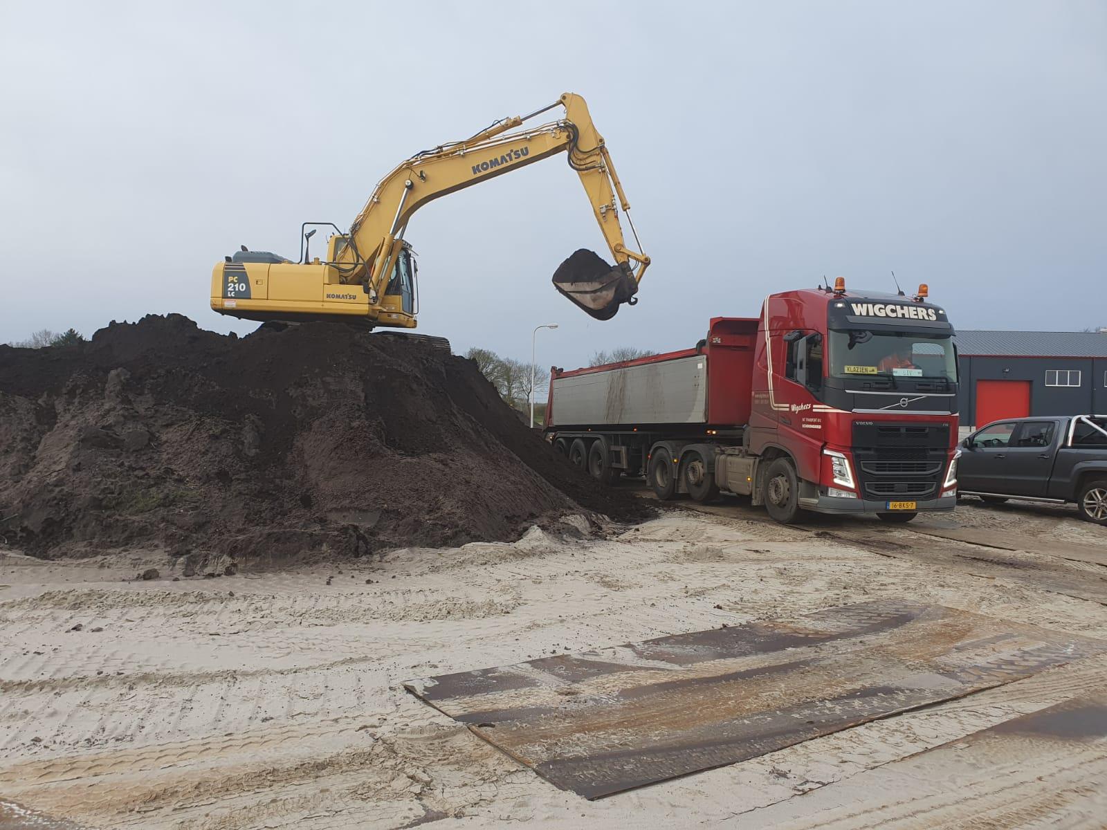 grondwerk transport zwarte grond