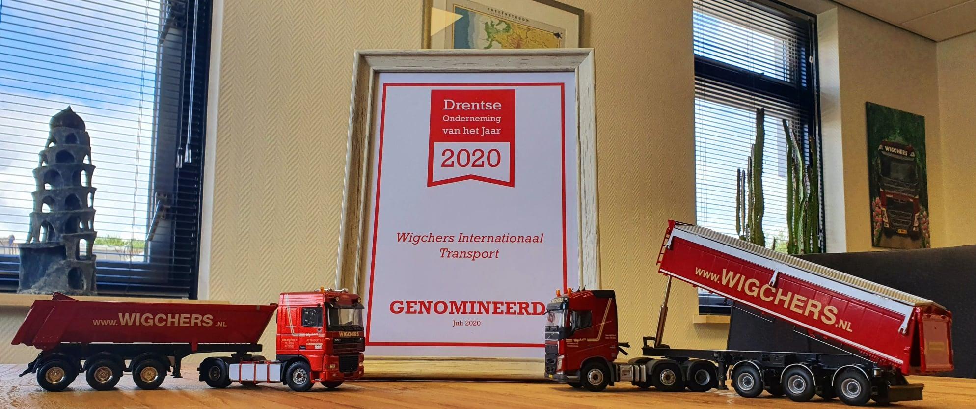 Oorkonde nominatie Drentse Onderneming van het Jaar 2020